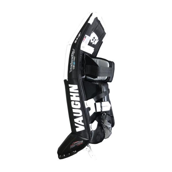 Vaughn Velocity VE8 Double Break Intermediate Goalie Leg Pad in White and Black on Inside