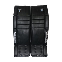 Vaughn Velocity VE8 Pro Double Break Senior Goalie Leg Pads in All Black