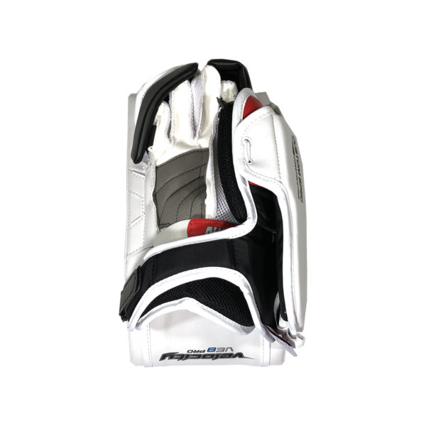 Vaughn Velocity VE8 Pro Senior Goalie Blocker in BLack Red and White on Back