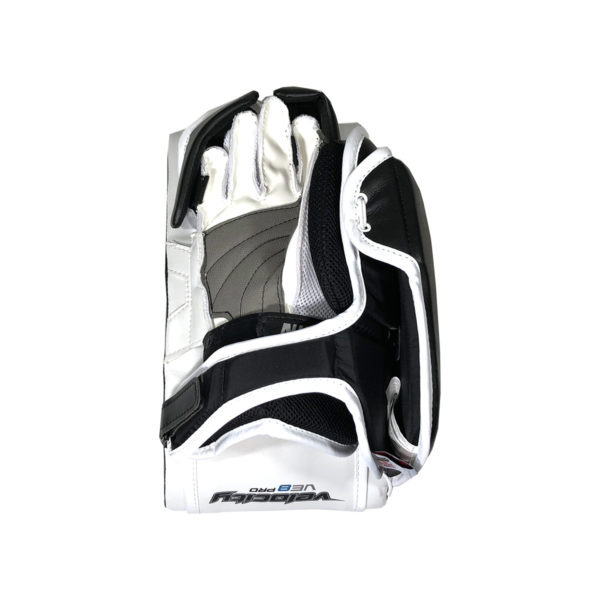 Vaughn Velocity VE8 Pro Senior Goalie Blocker in Black and White on Back