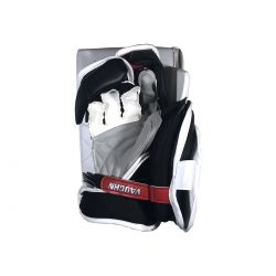 Vaughn Ventus SLR Pro Carbon Senior Goalie Blocker White and Red Back