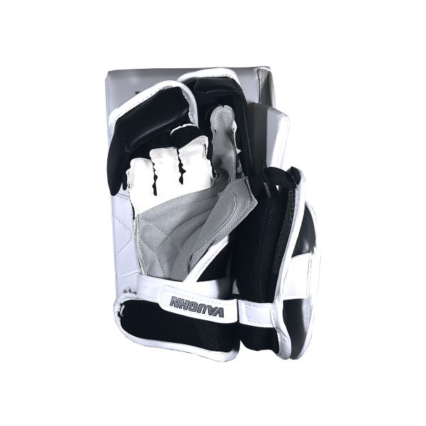 Vaughn Ventus SLR Pro Carbon Senior Goalie Blocker Black and White Back