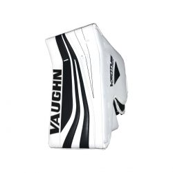Vaughn Ventus SLR Pro Carbon Senior Goalie Blocker Black and White Front