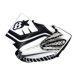 Brians GNetik 4 Pro Senior Goalie Glove in White and Blacj