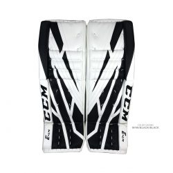 CCM Extreme Flex E4.9 Senior Goalie Pads White and Black